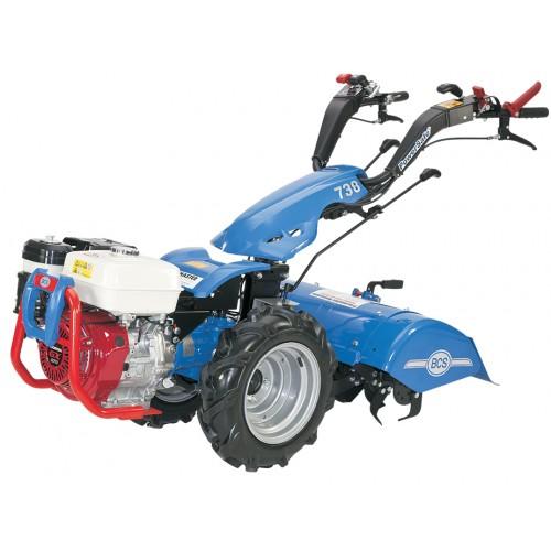 motoculteur  u00e9quip u00e9 d u0026 39 un rotavator et d u0026 39 une herse rotative
